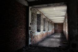 abandoned corridor, urban background