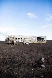 Abandoned DC plane wreck on Sólheimasandur in Iceland