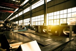 Abandoned dilapidated factory interior building