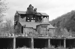Abandoned double-band Sawmill in Cass, Virginia