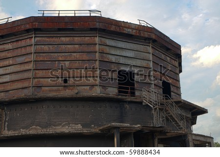 Abandoned factory - coal silo building