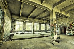abandoned factory hdr