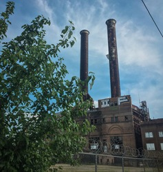 Abandoned Factory in New Orleans on a summer day.