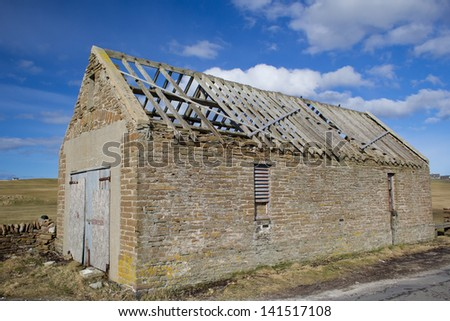Abandoned farm building