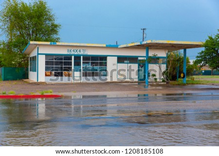 Abandoned gas station in Willcox, Arizona, USA, 08-23-2018 #1208185108