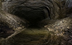 Abandoned gypsum mine in Donetsk region, Ukraine
