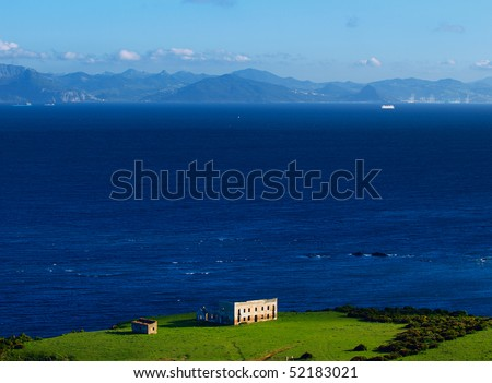 abandoned house at the straits of gibraltar