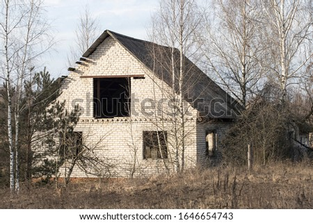 Abandoned house, village house, empty house, old house,