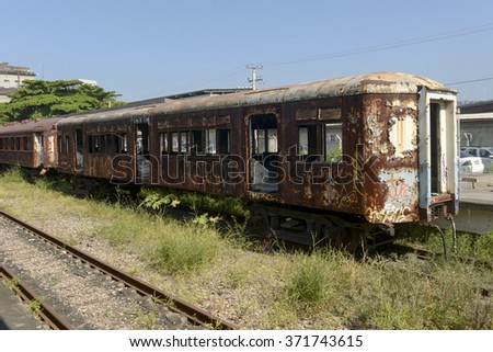 abandoned in an old train...