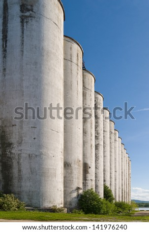 Abandoned industrial building - old storage terminal