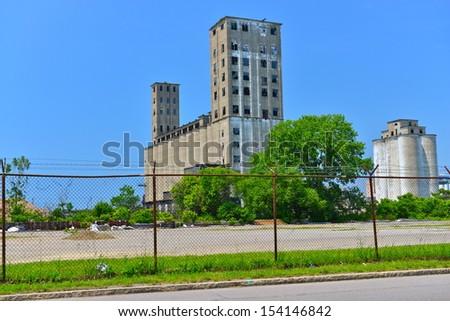 Abandoned industrial buildings in Buffalo, NY, USA