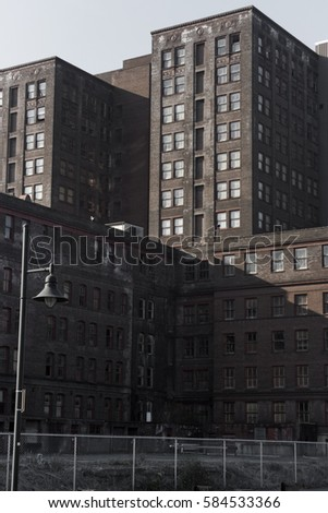 Abandoned industrial complex buildings #584533366