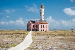 Abandoned lighthouse in the lonely island of Klein Curacao, Curacao, Netherland Antilles.