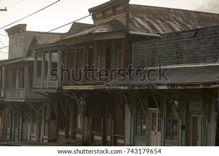abandoned main street of a...