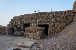 Abandoned military bunker on he mountain