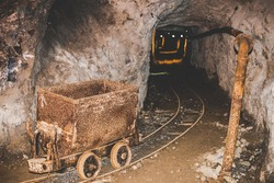 abandoned mine - rusty obsolete equipment