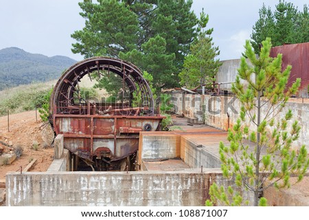 Abandoned Mine Site, formerly mining Gold, Silver, Copper