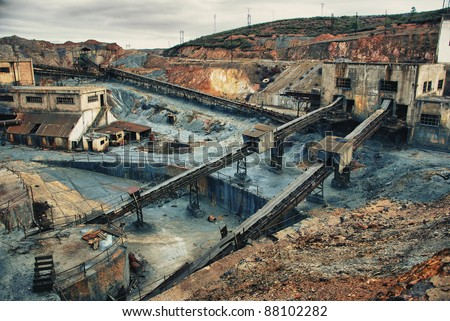 Abandoned mines copper, gold and silver of Tharsis, Huelva - Spain