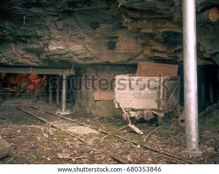 abandoned mining equipment #680353846