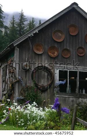 abandoned mining shack