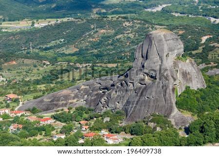 Meteora rocks landscape , meaning