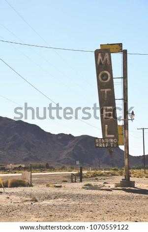 Abandoned motel in Bagdad, Arizona