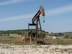 abandoned oil fields in the province of Burgos, Spain