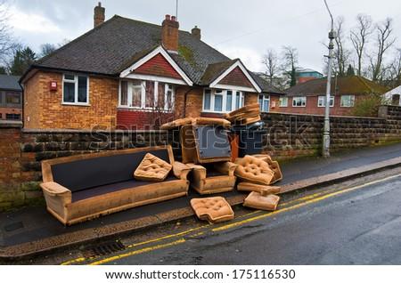 Abandoned old furniture. england reading