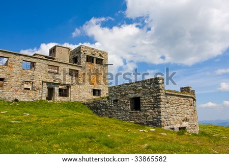 Abandoned old house in mountains