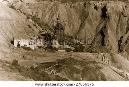 abandoned old mining machinery...