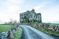 Abandoned old Stately home in Ireland