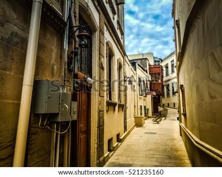 "stock photo abandoned passage baku old city old city buildings old city street old town old city design 521235160 - Каталог - Фотообои ""Города"""