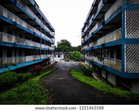 abandoned police quarters  Stock fotó ©