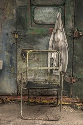 Abandoned retro building