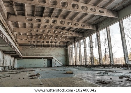 Abandoned room in chernobyl 2012