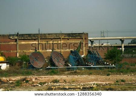 Abandoned satellite antennas (satellite dish), Satellite Master Antenna TV #1288356340