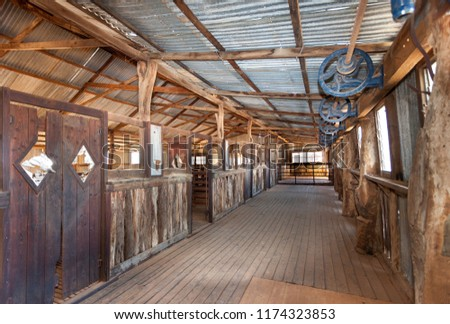 Abandoned shearing shed in outback Australia. #1174323853