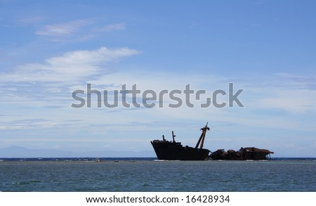 Abandoned Ship in the Water