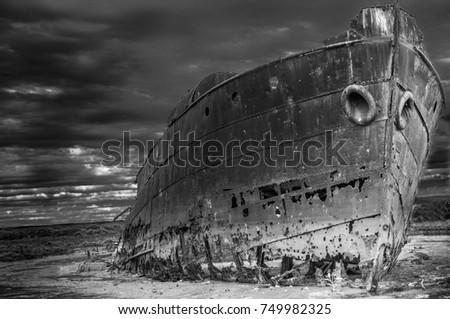 Abandoned ship M.V. Excelsior Port Adelaide Stock fotó ©
