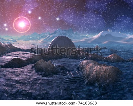 Abandoned Space Station on Hostile Alien Planet