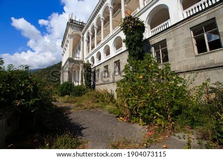 abandoned Stalin-era mansion in Gagra Stock photo ©