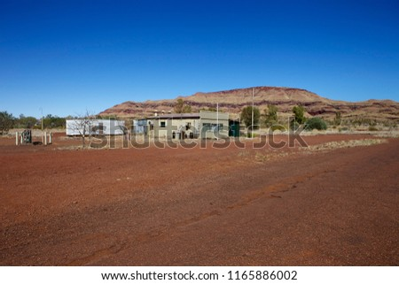 Abandoned town of Wittenoom in Western Australia. #1165886002