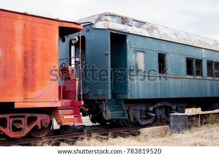 abandoned train left to decay...
