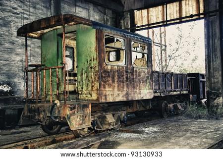 Abandoned train of Spain