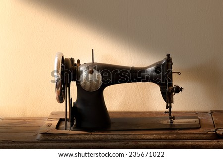 Abandoned vintage sewing machine still life art style #235671022