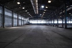 abandoned warehouse background , rice mill