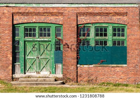 Wooden Gate In The Brick Wall Images And Stock Photos Page 2