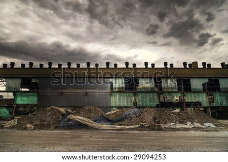 Abandoned Warehouse Facade
