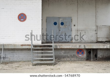 Abandoned Warehouse with Loading Platform