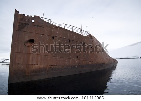 Abandoned whaling boat